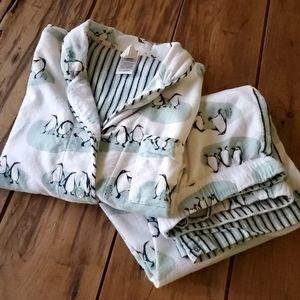Munki Munki Women 2-Piece PJ Flannel Pajama Sleep